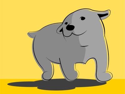 doggo adobe illustrator vector illustration