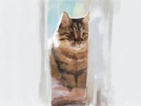 Catto cat digital painting digital illustration illustration sketchbookart sketchbook autodesk sketchbook