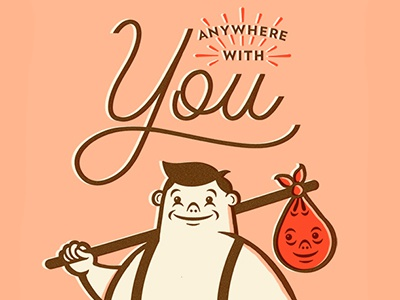 Anywhere With You illustration type