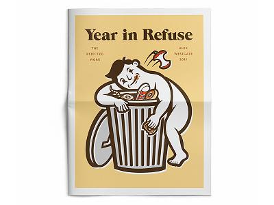 Year in Refuse self promo design promo tabloid newspaper illustration