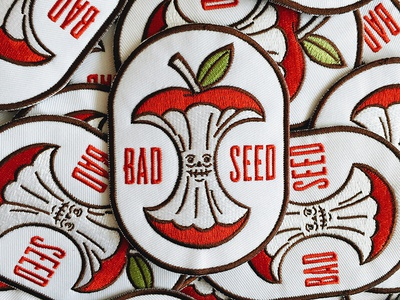Bad Seed Patch embroidered patch apple design illustration patch