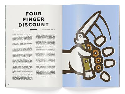 Four Finger Discount editorial illustration switchblade editorial illustration
