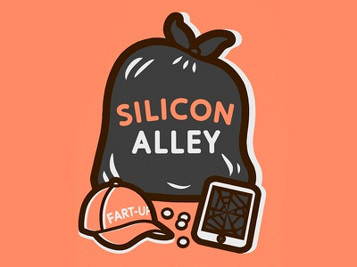Silicon Alley start up tech type valley alley silicon zine illustration