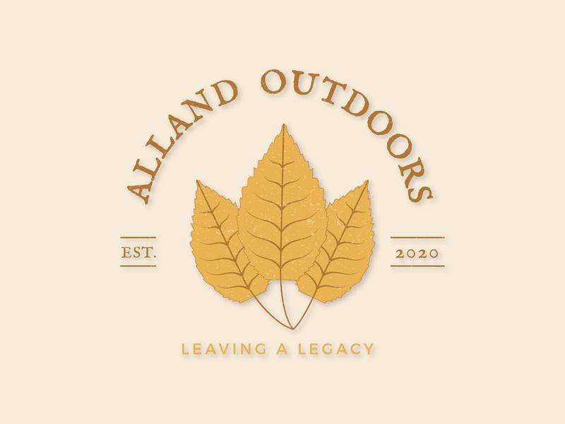 Alland Outdoors Logo logo design branding