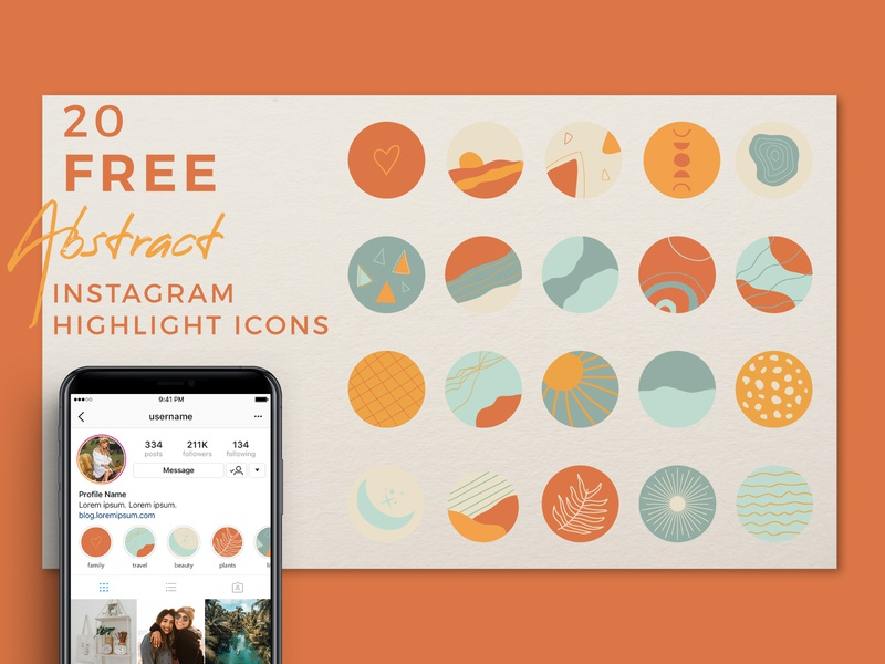 Abstract Instagram Highlight Covers jpg abstract social media freebie highlight covers instagram free