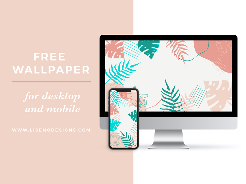 Free Tropical Leaves Wallpaper for Desktop and Phone phone desktop freebie free wallpaper tropical