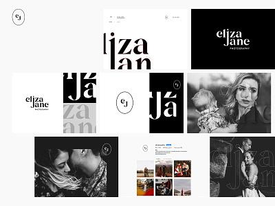 ElizaJane Photography photography lettering vector design logo