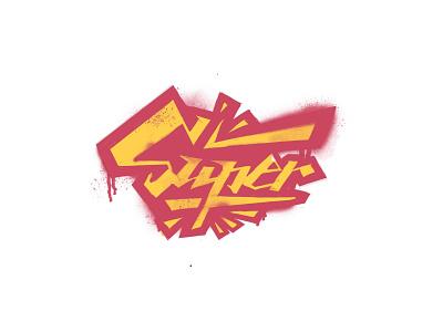 Super typography vector design illustration logo