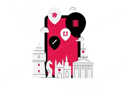 Welcome Screen vector design illustration