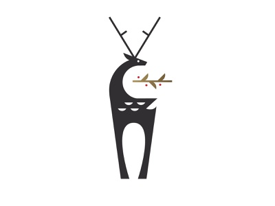 Deer branding vector design illustration logo