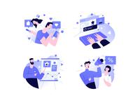 Prosperys content illustrations illustration design tonik illustration art illustrator ui vector design illustration