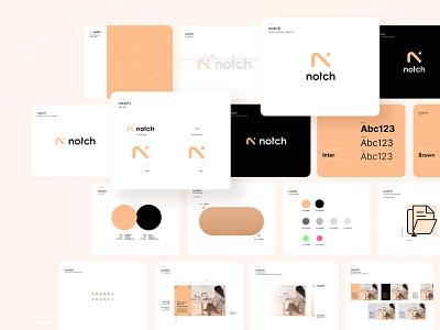 NOTCH logo design tonik letter font branding typography vector design logo