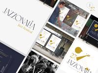 JAZZONALIA Jazz Festival identity brand poster art poster design illustration logo