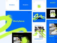 ButyJana vol2 branding typography lettering vector design logo