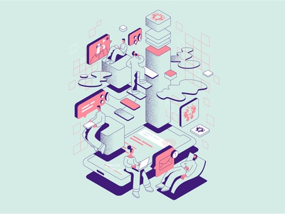 Teletherapy illustrations illustrator vector illustration design