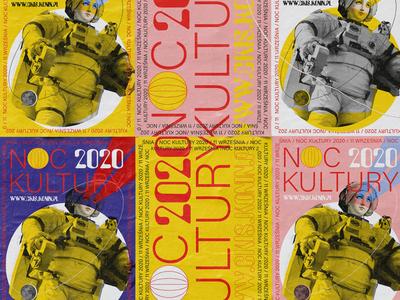 NOC KULTURY / culture night identity branding poster vector illustration design