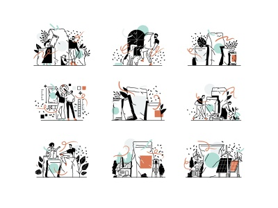 Excel illlustrations illustrator design ui vector illustration