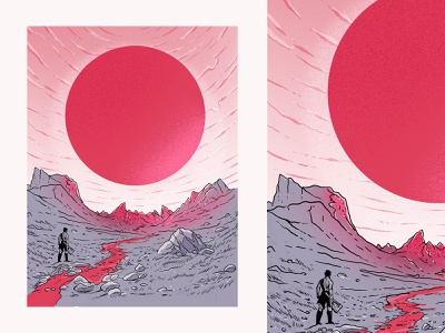 Blood Sun print poster illustration