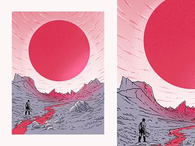 Blood Sun print poster illustration