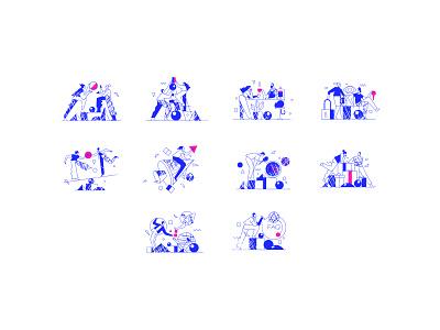 FICHA - illustrations uiillustration ui vector design illustration