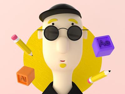 Just ME illustration illustrator octane c4d