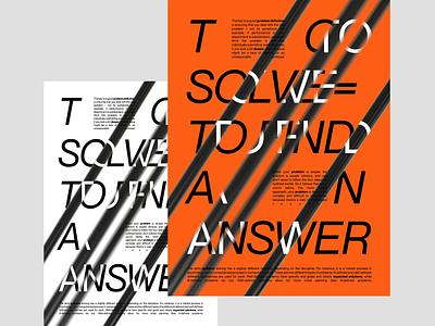 Solve Problems 3d c4d motion design motion poster art poster