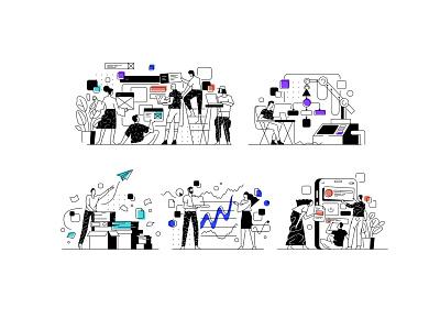 ARRAY illustrations tonik illsutrator uiillustration ui vector illustration design