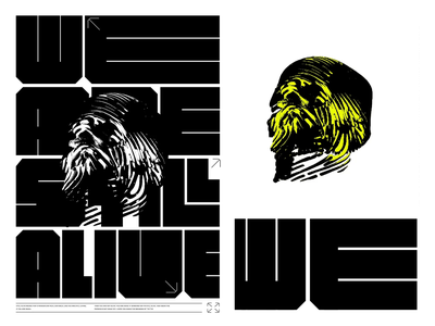 WE ARE STILL ALIVE typography poster 3d art 3d animation illustration design