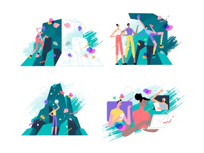 Deep Climb illustration art ui illustration tonik illustrator vector illustration design