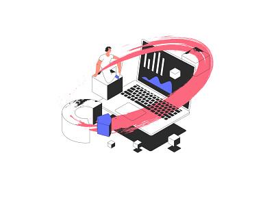 tarmac illustrations set uiillustration vector illustration design