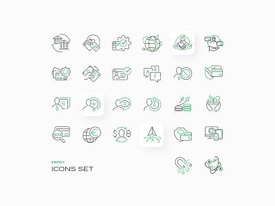 SIMPLEX ICONS icons illsutration illsutrator ux ui vector illustration design