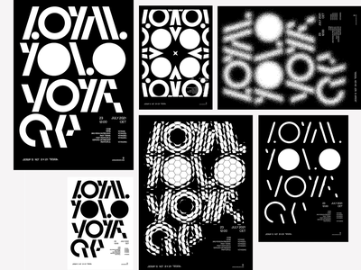 lOyalYoloVOyAge poster animation lettering illustration design