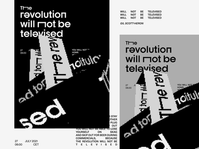 The revolution typography animation lettering vector illustration