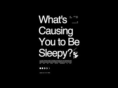 Sleepy poster animation illustration design
