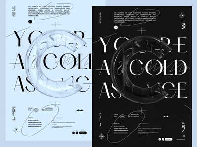 YOU ARE AS COLD AS ICE poster animation typography lettering vector illustration design