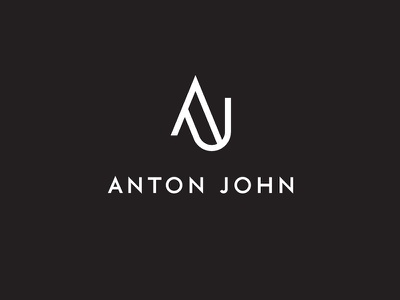 ANTON JOHN white black j a logo minimal fashion
