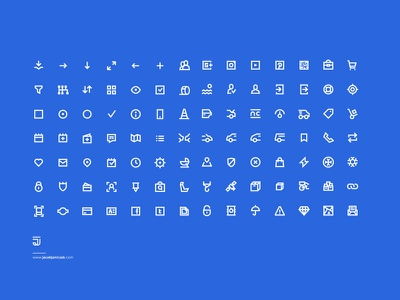 98 UI Pixel Perfect Icons set FREE !! :) free set icons perfect pixel ux ui