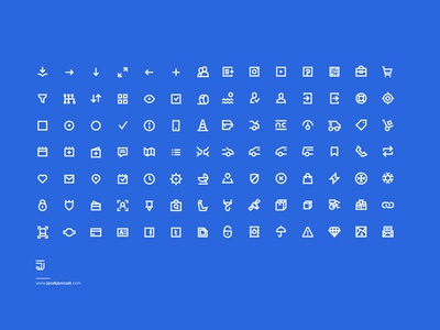 98 UI Pixel Perfect Icons set FREE !! :)