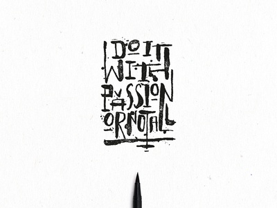 DO/ not ALL caligraphy typo brushpen font lettering