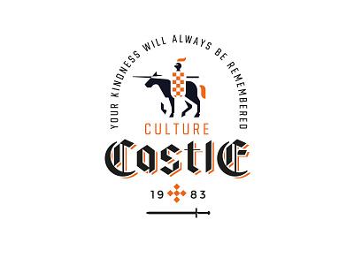Culture Castle sword font gothic black logo medieval castle horese knight
