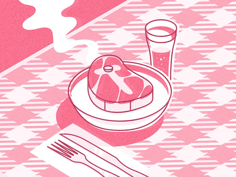 36daysoftype T glass table meat t-bone t lettering letter