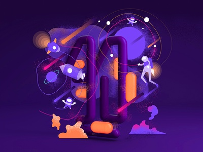 36daysoftype 1 stars space number letter 1