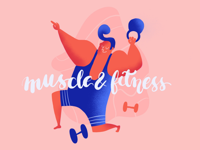 Muscle & fitness ui sport fitness fit illustration