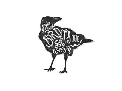 🦆EARLY BIRD🐛 bird lettering