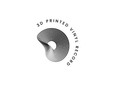 3D PRINTED VINYL RECORD vinyl 3d printer logo