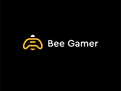 🐝🐝BEE gamer🎮🎮 bee game gamepad egames logo