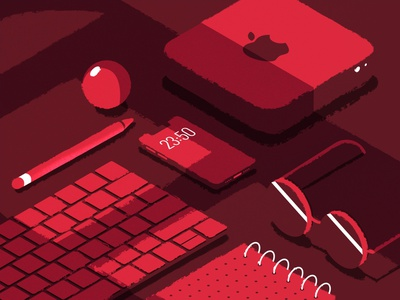 Ordinary desk isometric isometria vector ui illustration