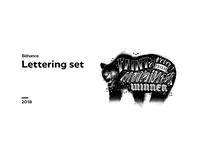 Lettering set 2018