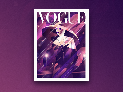VOGUE ui magazine art cover illustration