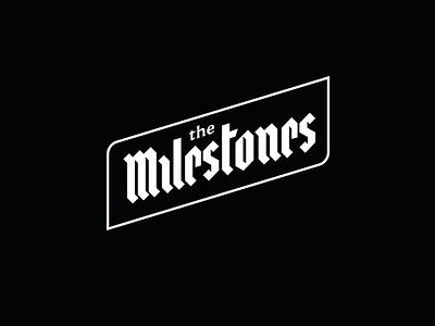 The Milestones logo lettering ui
